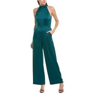 NEW Tahari Jumpsuit Sleeveless Halter Neck Green